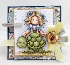 Card using Magnolia stamps from Magnolia-licious by Mindy Baxter of StampinMindy http://magnoliastamps.us/store2/new-sea-breeze-2013-1/#cards #Magnolia #cardmaking #copics