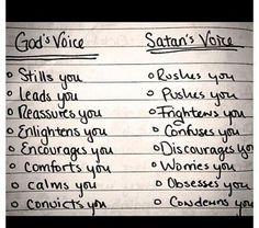 God's Voice vs Satan's voice