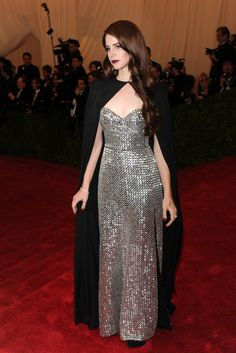 On the Red Carpet at the Costume Institute Gala: Lana Del Rey in Altuzarra.    Photo by KSW
