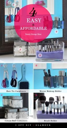 Easy and affordable beauty storage DIY.