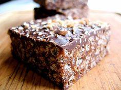 Hippie Crispy Treats!!! Think crisp rice, dark chocolate, coconut oil, and almond butter. #vegan #gluten-free