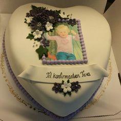Konfirmasjonskake , cake, cakedecorating Cake Decorating, Food And Drink, Birthday Cake, App, Marzipan, Drinks, Desserts, Cakes, Instagram