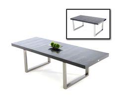 A&X Skyline - Modern Black Crocodile Lacquer Dining Table