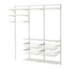 "ALGOT wall upright/shelves/rod, white Width: 74 3/4 "" Depth: 15 3/4 "" Height: 77 1/8 "" Width: 190 cm Depth: 40 cm Height: 196 cm"