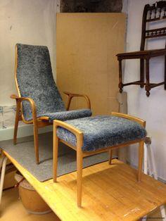 Lamino armchair with new sheepskin   Lamino fåtölj med nytt fårskinn www.tibbleantik.se