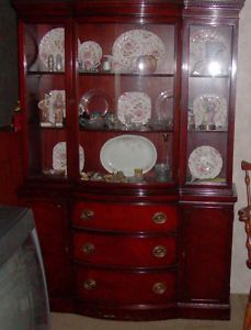 Duncan Phyfe 1930s Federal Style China Cabinet Hutch Dream House Pinterest And