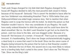 1000x Yes! Regulus was the true redemption story, not Snape the Bully! @heiressofanor , you have to read this!!