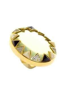 Azura Boutique - House of Harlow Resin & Crystal Ring $69