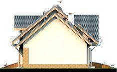 DOM.PL™ - Projekt domu DN Karmelita mała CE - DOM PC1-01 - gotowy koszt budowy Malaga, House Plans, Farmhouse, Log Homes, Green, Home, House Floor Plans, Cottage, Plantation Homes