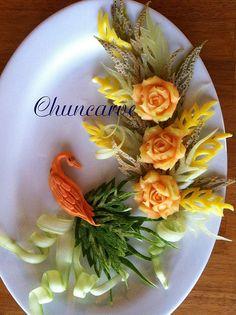Bird Melon plate   Flickr - Photo Sharing!