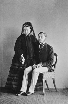 Queen Victoria of the U.K. with her 3rd son, Prince Arthur; 1871.