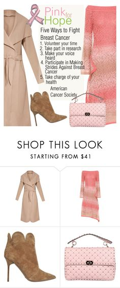 """""""Breast Cancer Awareness"""" by sara-cdth ❤ liked on Polyvore featuring Peter Pilotto, Burberry, Valentino, Bling Jewelry and breastcancerawearness"""