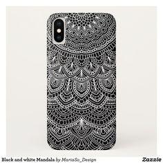 Black and white Mandala iPhone X Case