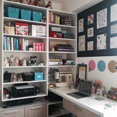 "nerdy-fashiongirl: "" My new study space """