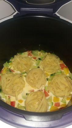 tagliatelles courgettes poivrons | Recettes Cookeo