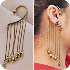 fashion earrings Vintage design zinc alloy skeleton tassel  pendant stud earrings for women in party free shipping - http://www.aliexpress.com/item/fashion-earrings-Vintage-design-zinc-alloy-skeleton-tassel-pendant-stud-earrings-for-women-in-party-free-shipping/32290471897.html