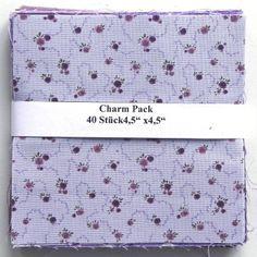 """asc-070-601040 x (4,5"""" x 4,5"""" - ~ 11,43 cm x 11,43 cm)  Charm Pack - 40 lila Basics, 20 verschiedene Stoffe, jeweils zweimal - Stoffzusammenstellung variiert"""