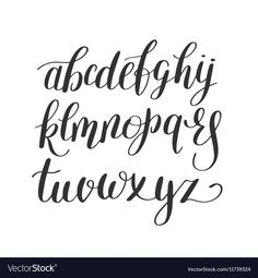Black And White Hand Lettering Alphabet Design Handwritten Brush Script Modern Calligraphy Cursive Font Vector Illustration Download A Free Preview Or
