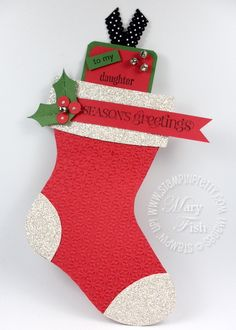 Stampin up bigz l die holiday stocking card - bjl