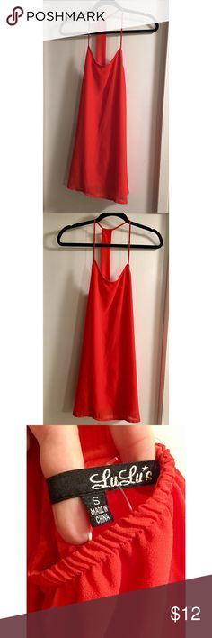 Orange LuLu's Dress - Size S Orange LuLu's Dress - Size S. Only worn once! Great condition. No rips, tears, or stains. Lulu's Dresses