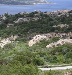 Bicycle holidays in the North of Sardinia: cycle touring routes and the little bays of the island of La Maddalena