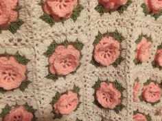 Baby girls 3d rose handmade afghan