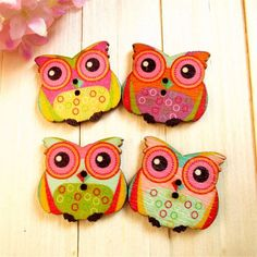 Mei-trend Blending the Spotted Owl Wooden Buttons DIY Accessories for Toy Craft Sewing Scrapbooking (150pc) * Read more reviews of the item by visiting the link on the image.