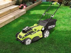 Help Dad keep the lawn picture-perfect this summer with this cordless RYOBI Lawn Mower. #FathersDayApproved #FathersDay #GiftIdeas