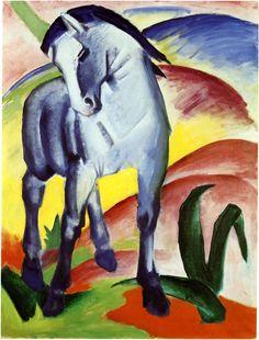 Blaues Pferd I - Franz Marc