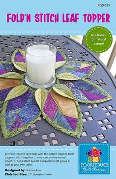 Kristine Poor Fold'n Stitch Leaf Topper Fabric Pattern