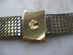 Vintage Gold Toned Scale Belt by VintageByThePound on Etsy, $16.00