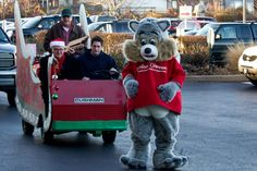 David Freese helps deliver toys to children at Cardinal Glennon 12-19-12