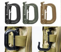 Molle Tactical Shackle Carabiner Snap