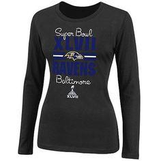 Baltimore Ravens Ladies Super Bowl XLVII Bound At the Show Long Sleeve T-Shirt