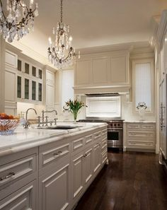 Design Chic: Add Glamour to the Kitchen with a Chandelier...