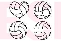Volleyball Designs and Monograms Set ESI Designs Crafters SVGs Volleyball Tattoos, Volleyball Drawing, Volleyball Shirt Designs, Volleyball Tips, Volleyball Shirts, Volleyball Crafts, Volleyball Party, Silhouette Design Studio, Silhouette Cameo