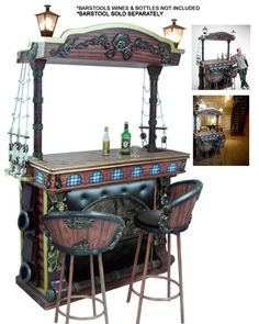 Pirate bar - would love to recreate this. But bigger. Much bigger. And with shelves behind it. And I'd age it and add more strands of pearls and shiny things.