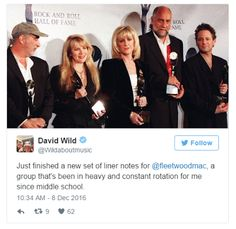 Fleetwood Mac News:David Wild just finished new liner notes for Fleetwood Mac