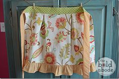 Apron made by the Bold Abode from Tina Lou fabric. Nice enough to use in a primitive hooked rug design.