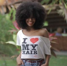 The T Shirt Says It All!!!❤️❤️❤️ | Grab your natural hair care products at Beautycoliseum.com