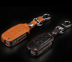 car accessories leather car key wallet key case for Skoda Superb Yeti Octavia A5 Fabia Rapid 3keys flip key cover