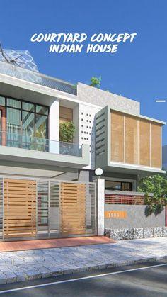 House Outer Design, House Outside Design, Bungalow House Design, House Front Design, Village House Design, Village Houses, Modern House Facades, Modern Exterior House Designs, Modern House Design