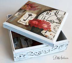Wooden jewelry box Elegant gift . decoupage box shabby by ArtDidi