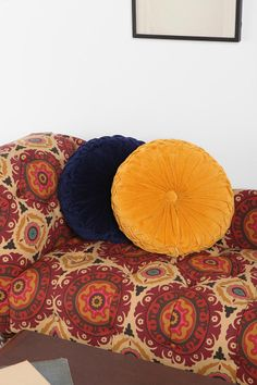 Round Pintuck Pillow Oh Urban Yellow Pillows, Throw Pillows, Gray Bedspread, Mustard Bedding, King Comforter Sets, Bedding Sets, Couch, Bed Sofa, Round Pillow