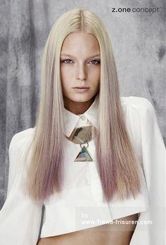 Z.ONE CONCEPT Lange Blonde weiblich Gerade Farbige Multi-tonalen Frauen Poker-gerade Frisuren hairstyles