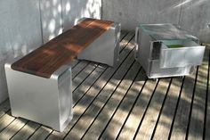 OLD APPLE COMPUTERS TURNED INTO FURNITURE PIECES