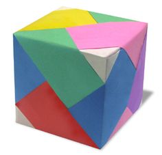 Welcome to the tcgames daily origami series. In this tutorial, I will show you how to make an origami Lined Cube (Hexahedron). Origami Instructions For Kids, Easy Origami For Kids, Origami Modular, Origami Cube, Origami Boxes, Easy Origami Flower, Origami Flowers, Paper Crafts Origami, Oragami