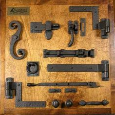 Shutter Hardware, Rustic Hardware, Barn Door Hardware, Wooden Gate Door, Barnwood Doors, Barn Door Latch, Backyard Gates, Furniture Hinges, A Frame House Plans