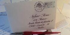 busta personalizzata con indirizzo dell'invitato