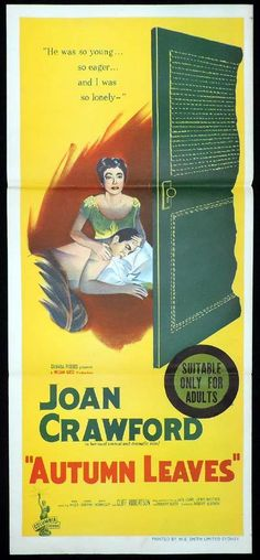AUTUMN LEAVES 1956 Joan Crawford Vera Miles RARE Daybill Movie Poster